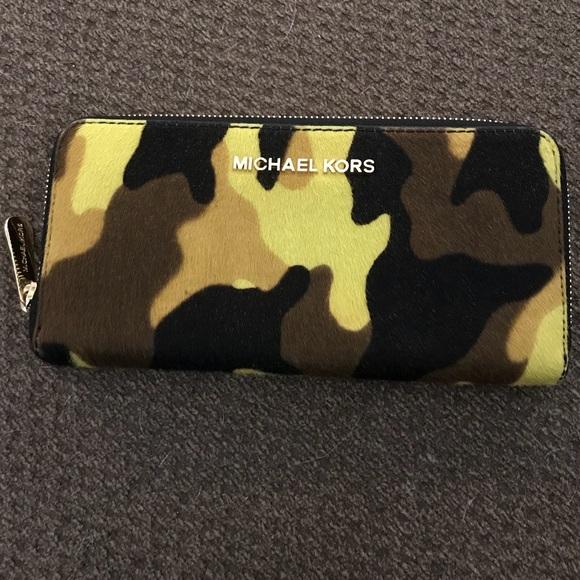 Michael Kors Camo Fur Wallet